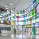 Window tint, Indianapolis Museum of Art interior
