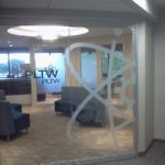 Window graphics, PLTW office interior, Indianapolis IN