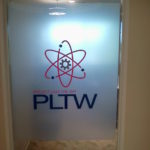 Window tint, PLTW office interior, Indianapolis IN