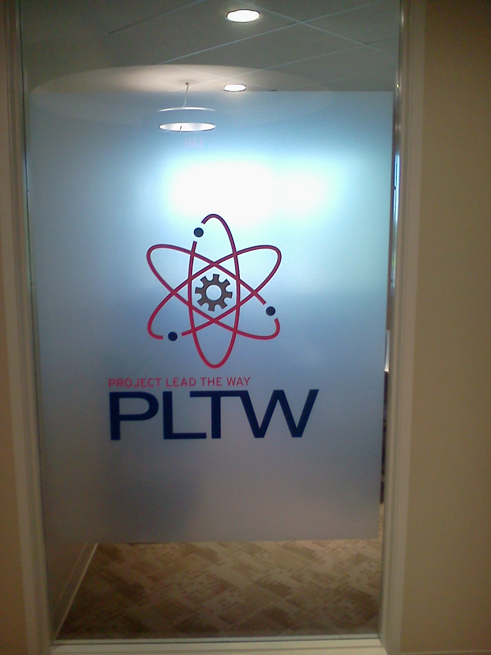 Window tint  PLTW office interior  Indianapolis IN. Commercial Window Tinting in Indianapolis   Solar Concepts