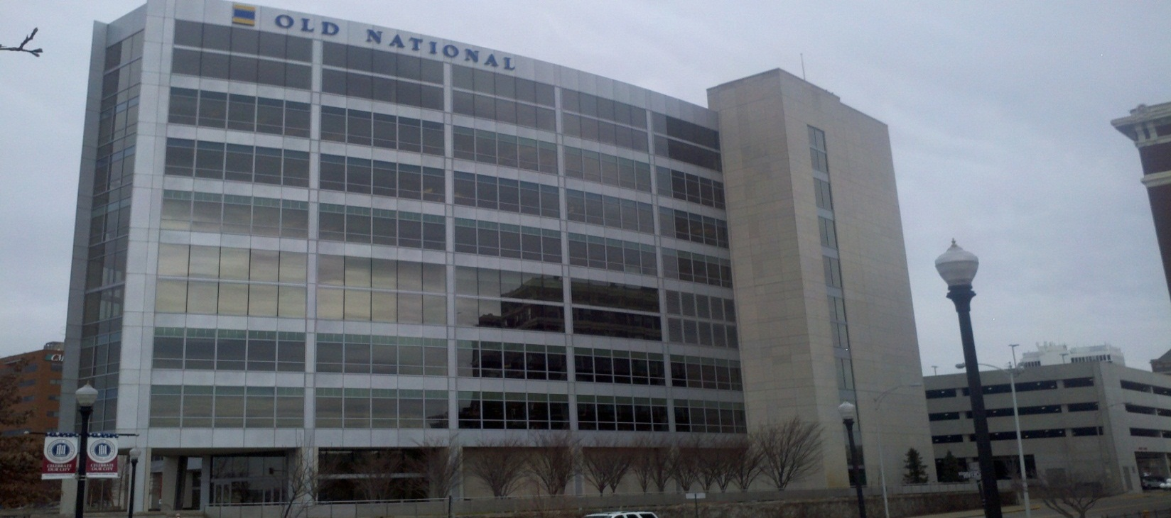 Window tint  Old National office building  Indianapolis IN. Commercial Window Tinting in Indianapolis   Solar Concepts