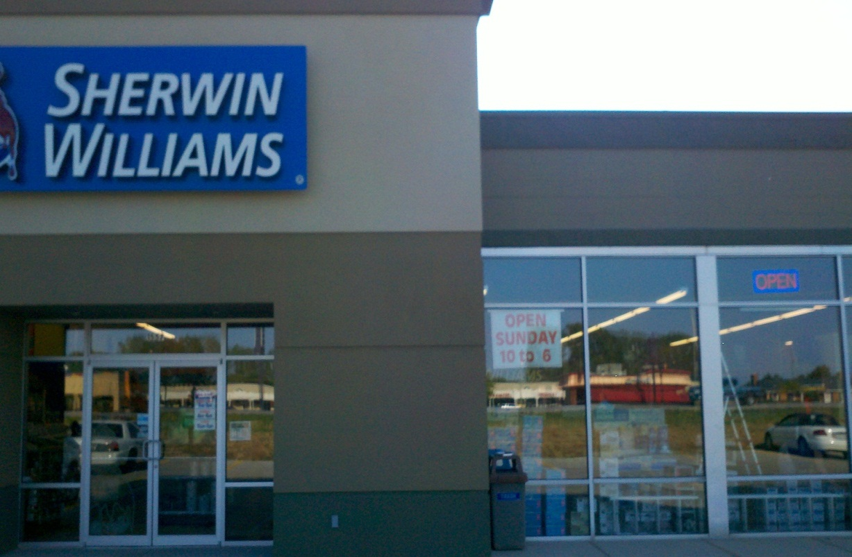Window tint  Sherwin Williams storefront  Indianapolis IN. Commercial Window Tinting in Indianapolis   Solar Concepts
