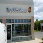 Window tint, UPS Store storefront, Indianapolis IN